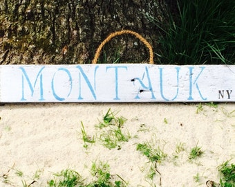 """Montauk """"The End"""" Wood Sign"""