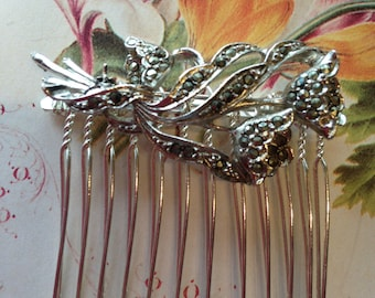 Hair Combs - Marcasite Hair Comb- Vintage Wedding, Bridal , Bridesmaid , Prom Hair Comb