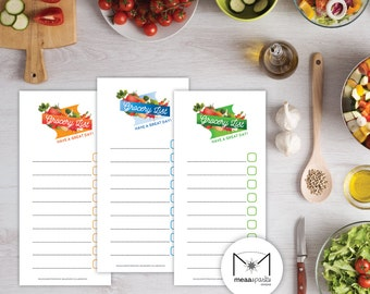 Printable Grocery List - A4 210mm x 297mm | DL 99mm x 210mm | Digital File | Instant Download