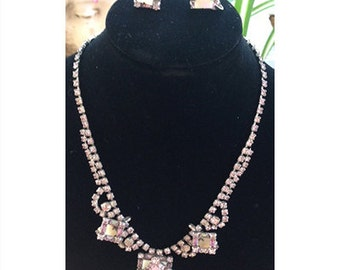 Vintage Jay Flex Sterling Necklace and Earrings