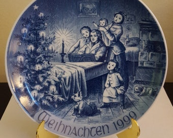 """Bareuther """"Christmas Eve"""" Limited Edition Collector Plate"""