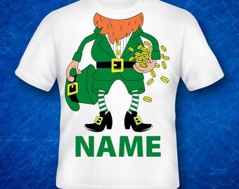 st patrick's day ,leprechaun Shirts,leprechaun Birthday Shirt, Custom Made
