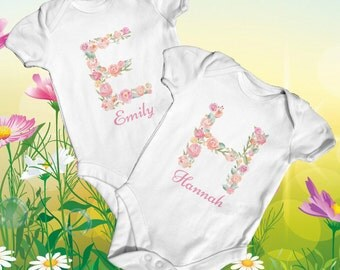 Custom Name Baby Bodysuit | Personalised Baby | Baby Shower Gift | Cute Baby Clothes | Take Home Outfit | Monogram Bodysuit | Newborn Baby