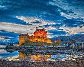 Eilean Donan Castle, Scotland, sunrise photography
