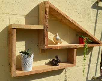 Palette wood wall shelf MILFORM