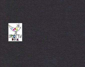 SALE! Faux Denim Black Knit Stretch Fabric UK