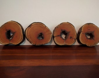Set of 4 Buckthorn Wood Coasters