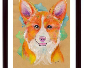 Corgi Dog Art Print