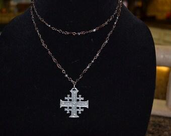 gunmetal necklace