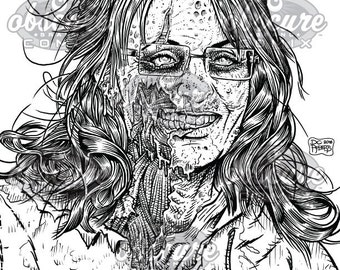 "Digital Zombie Coloring Page - Sarah Palin - ""You Betcha!"""