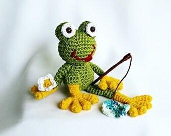"ebook: Amigurumi ""Ferdinand Frog"" Crochet Pattern"