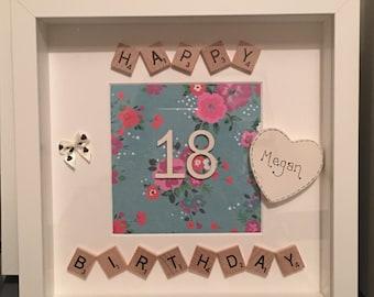 Birthday Scrabble Frame
