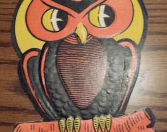 Vintage Beistle Owl Halloween Cutout