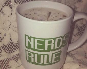 Nerds Rule coffee Energy soy candle