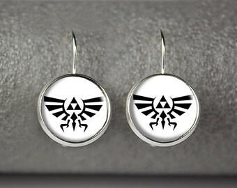 Legend of Zelda earrings, Legend of Zelda jewelry, Triforce earrings