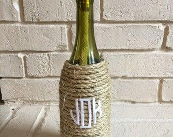 Monogrammed Wine Bottle Torch
