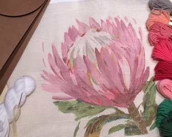 Protea Needlepoint Tapestry Kit