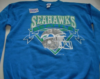 Vintage Seattle Seahawks NFL sweatshirt by LOGO 7 made in the USA New with tags   officially licensed product ,