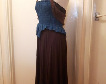 Jersey dress corseted for fit