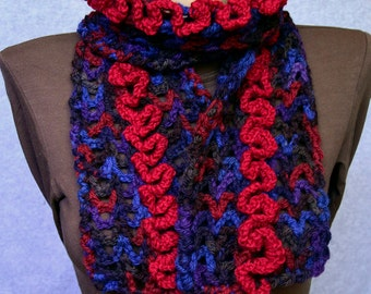 Crochet scarf  Multicolor scarf Long Scarf