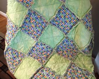 Infant/Toddler flannel rag quilt