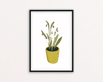 Snowdrops - Digital print of an original illustration, A4 and A5