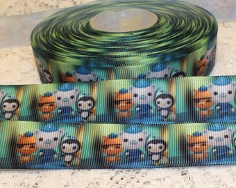 "The Octonauts Character 7/8"" (22 mm) Grosgrain Ribbon, Craft, Hair, Cake, Scrapbooking 1 yard"