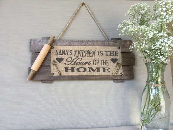Nana 39 S Kitchenwood Sign Personalized Gifts Personalized