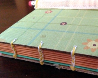 Handmade Journal, Cute Journal, Coptic stitched Journal,Blank Book, Stationary,