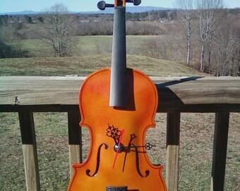 Fiddle/Violin Clock Wall Hanger