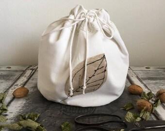 Natural linen bread bag, linen bread basket raw linen bag bread loaf bag, Ecofriendly bag, Picnic basket Bread keeper Storage bags