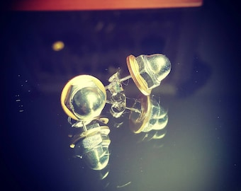 Brass and stainless steel hardware studs