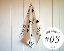 Tea Towels, Hand Printed, Block Printed, Handmade Kitchen Towel, Design #03
