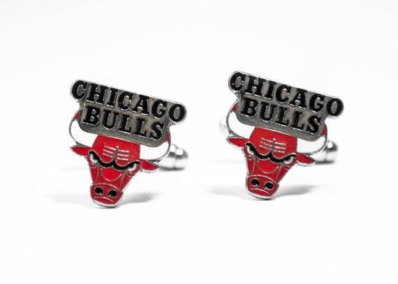 Chicago Bulls Cuff Links -- FREE SHIPPING with USPS First Class Domestic Mail