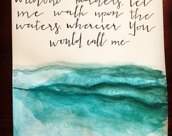 Oceans Watercolor