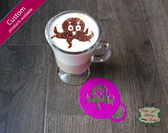 Octopus - Coffee Stencil