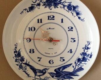 SOVIET RUSSIAN  porcelain plate clock