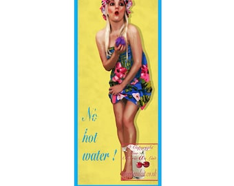 Retro Pin Up Girl Large Print 5 x 12 inch Cherrie Au Lait Cheesecake Humorous