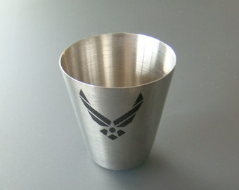 Stainless Steel One 1 Oz. Shot Glass Custom Printed Personalized