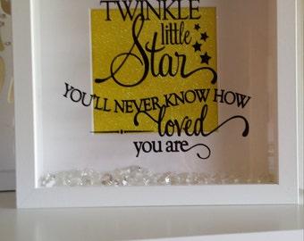 Twinkle twinkle gift frame