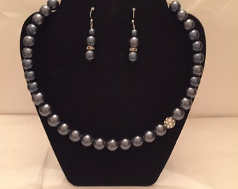 Touch of Sparkle Jewelry Set/Choker/Necklace/Beaded Jewelry