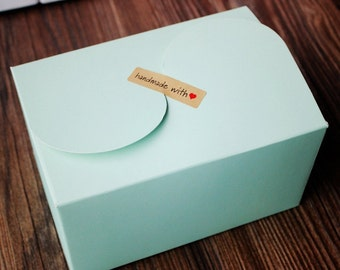 Light green Paper Gift Box, Gift Boxes, cake Boxes 30 pieces / lot