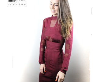 long sleeved bandage dress 8-10