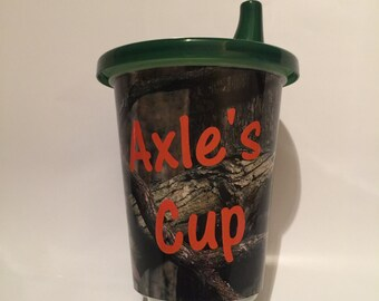 Customizable Camo Sippy Cup