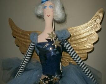 Burlesque,vintage ,circus angel cloth figure.