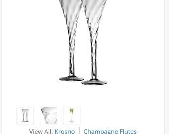 Krosno Silhouette Hollow Stem Champagne Glasses Set of 4