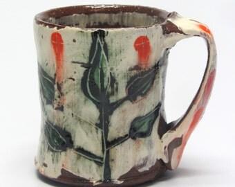 mug with plant design