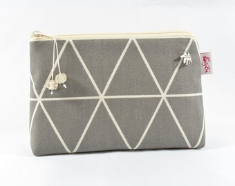 small cosmetic bag with triangles small makeup bag with zipper