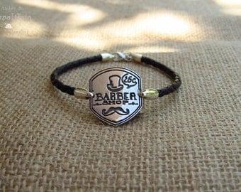 """Bracelet vintage """"Barber Shop"""" (male)"""