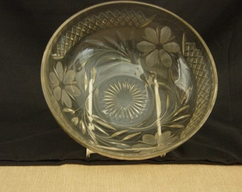 Clear Pressed Glass fruit Bowl